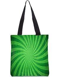 Snoogg Abstract Green Design Digitally Printed Utility Tote Bag Handbag Made Of Poly Canvas - B01C8LYNUQ