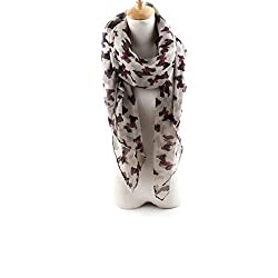 AngelShop Women Small Dog Printed Encryption Voile Scarves Shawl BYWJ