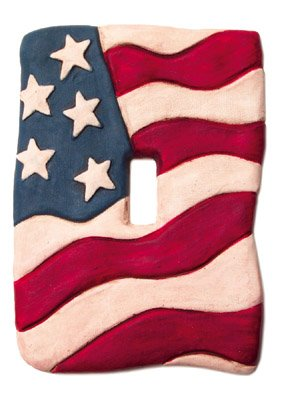 Light Switchplate American Flag Single Switch Plate Cover