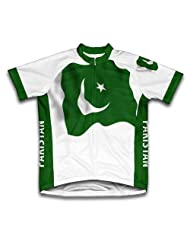 Pakistan Flag Short Sleeve Cycling Jersey for Women