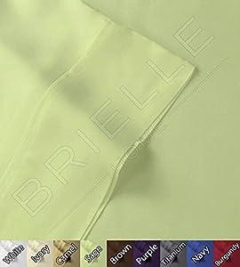 Brielle Bamboo Sheet Set - 100% Rayon from Bamboo (Full, Sage)