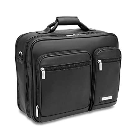 Hartmann Leather Business Cases Double Compartment Expandable Briefcase