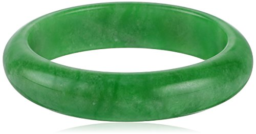 Polished Green Jade Large Slip-On Bangle Bracelet