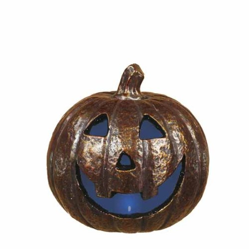"8"" X 8"" Spooky Led Light Up Jack O Lantern (Set Of 4)"