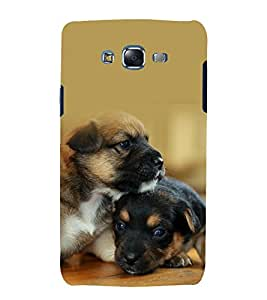 printtech Cute Dog Couple Back Case Cover for Samsung Galaxy Core i8262 / Samsung Galaxy Core i8260