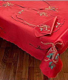 Lenox Linens Holiday Nouveau Cutwork Napkin Red 19