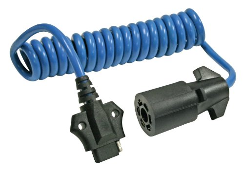 Reese Towpower 74686 Coiled 7-Way Blade to 4-Flat Adapter