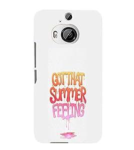 EPICCASE Summer Feeling Mobile Back Case Cover For HTC One M9 Plus (Designer Case)