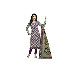 Fashiondiya Printed Unstitched Cotton Dress Material
