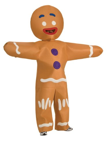 Shrek Gingerbread Man Costume, Brown, X-Large