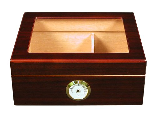 Quality Importers Desktop Humidor, Capri-Glasstop - Decorative Boxes