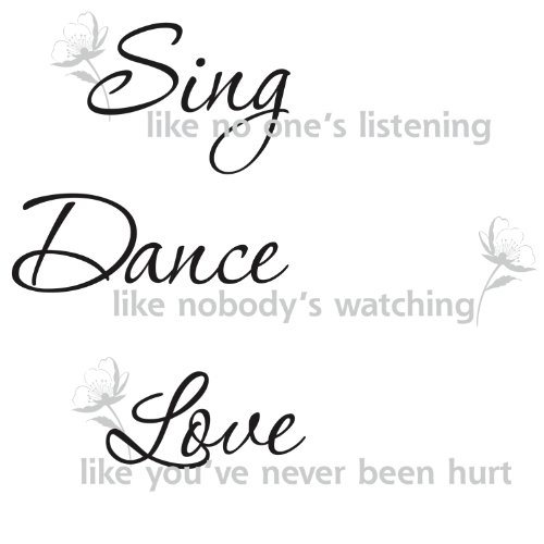 Roommates Rmk1552Scs Dance, Sing, Love Peel & Stick Wall Decals front-1004476