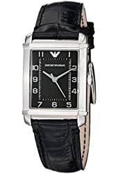 Emporio Armani Women's AR0364 Classic Black Leather Strap Watch
