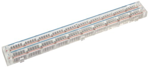 "Global Specialties GS-100T Economy Bus Strip with Transparent, 100 Tie-Point, 6-1/2"" Length x 3/8"" Width"