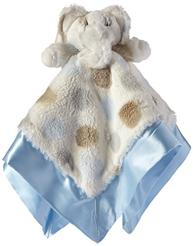 "Little Giraffe Little E Blanky, 18""x18"", Blue"