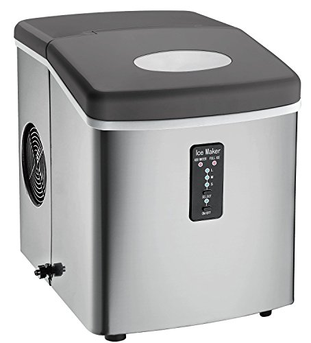 Igloo ICE103 Counter Top Ice Maker with Over-Sized Ice Bucket, Stainless Steel (Certified Refurbished) (Refurbished Ice Maker compare prices)