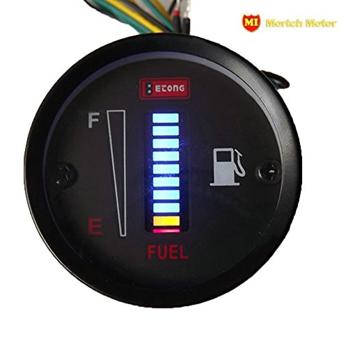 MORTCH 50mm Fuel Meter LED Digital Instruments DC12V Fuel Gauge For Car Motorcycle (Digital Fuel Level Gauge compare prices)