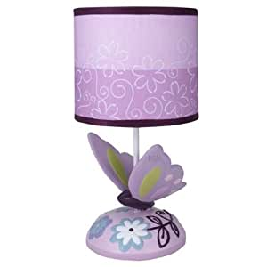 ivy lamp with shade and bulb butterfly lane nursery lamps baby. Black Bedroom Furniture Sets. Home Design Ideas
