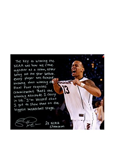 Steiner Sports Memorabilia Shabazz Napier Signed Celebration NCAA Championship Story Photo, 16