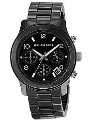 Women's Black Acrylic Link Bracelet Quartz Chronograph [Watch] Michael Kors