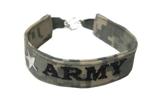 US Army ACU Name Tape Patriotic Bracelet - Made in USA