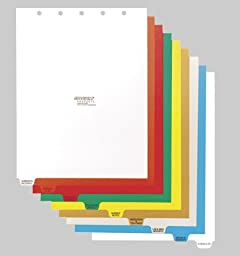 Omnimed 9 Tab Preprinted Poly Chart Dividers (220913) - Top Open - Tab Option 2
