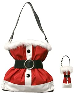 Christmas Santa Claus Suit Purse Handbag from JBags