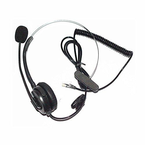 Black 4-pin RJ9 Headset Call Center Desk Telephone Monaural Mic Mircrophone (Rj9 Call Center Headset compare prices)