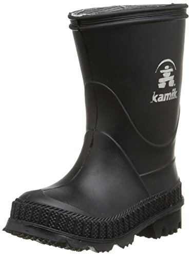 Kamik Stomp Rain Boot (Youth/Little Kid/Big Kid), Black, 13 M US Toddler (Kid Rain Boots compare prices)