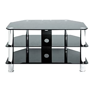 The Best  Levv TV880BC Tv Stand for up to 37 inch LCD and Plasma Screens- Glass and Chrome Legs