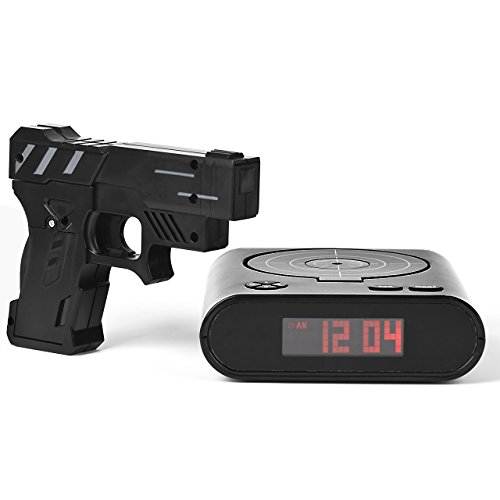 Gun Alarm Clock Target Wake Up Shooting Game Toy Novelty: Chaldean Gun Target Alarm Clock, Electronic Gun Alarm