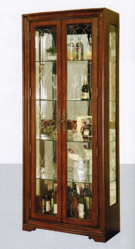 Image of Jordan Curio Cabinet in Brown Finish (VF_AM1504)