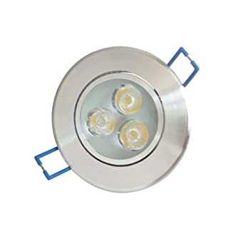 Aubig 3w 3x1w spot led encastrable blanc chaud lampe de for Spot exterieur encastrable plafond