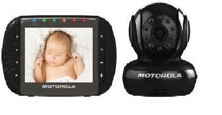 Motorola MBP36B Remote Wireless Indoor Baby Monitor with 1 Camera and 3.5-Inch Color LCD Screen and Remote Camera Pan, Tilt and Zoom - 1