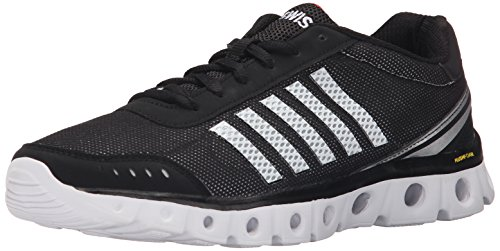 K-Swiss Men's X Lite Athletic CMF Athletic, Black/White/Fiery Red, 11 M US