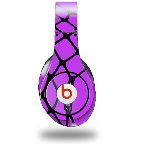 Ripped Fishnets Purple Decal Style Skin (Fits Original Beats Studio Headphones - Headphones Not Included)