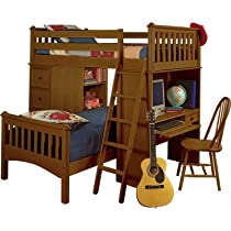 Big Sale Mission Sleep/Study/Storage Loft Bed Finish: Honey