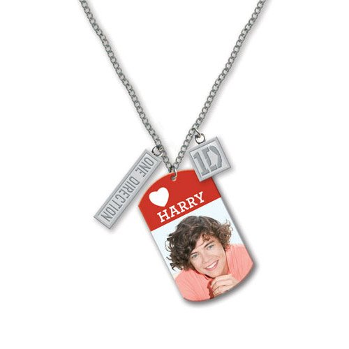 "com: One Direction 16"" Tag Necklace - Harry (Official 1D Merchandise"