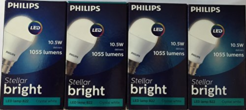 Ace Saver 10.5W 1055 Lumens LED Bulb (Crystal White, Pack of 3)