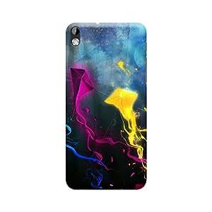 BUZZWORLD HTC 816 Multicolor Kites 3D Printed Mobile Back Case Cover (Matte) (Multicolor)