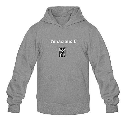 XIULUAN Men's Tenacious D Logo Hoodies L Dark Grey (Tenacious D The Last In Line compare prices)
