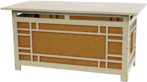 "36"" Hokkaido Japanese Style Lantern Lit Coffee Table - Cream"