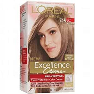L'Oreal Paris L'Oreal Excellence Creme Triple Protection Color Creme Level 3, Permanent Medium Ash Blonde/Cooler 7 1/2A