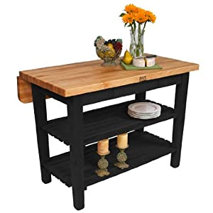 John Boos Kitchen Island Bar Work Table 60in X 32in Black Base