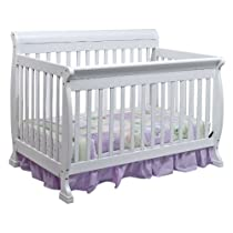 Hot Sale DaVinci Kalani 4-in-1 Convertible Crib with Toddler Rail, White
