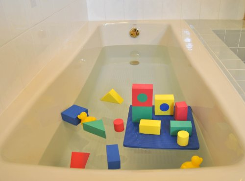 non toxic floating waterproof foam blocks bathtub toys for children w tote bag non recycled. Black Bedroom Furniture Sets. Home Design Ideas