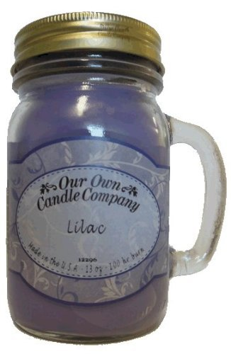 13 oz LILAC Scented Jar Candle (Our Own Candle Company Brand) Made in USA - 100 hr burn time