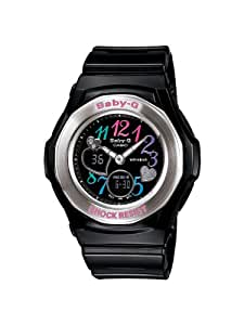 Casio Women's BGA101-1B Baby G Multi Color Dial and Black Resin Strap Watch