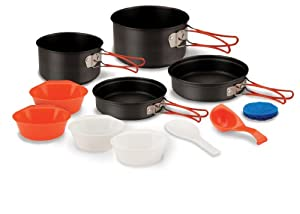 Stansport Hard Anodized Aluminum Cook Set-4 Person by StanSport