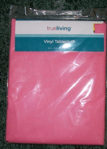 Pink tablecloths online stores pink vinyl tablecloth 52 x for Tablecloth 52 x 120